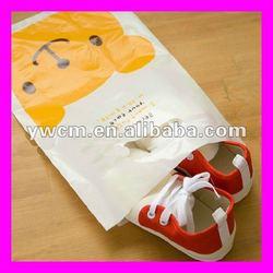 Shoes packaging die cut plastic bags