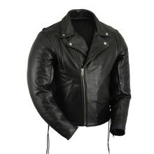 Motorcycle Black leather jackets Motorbike Racing biker wear
