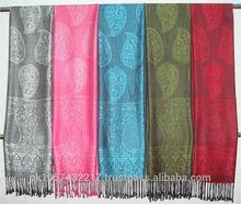 Shawl -2014 100% shawl wholsale Fashion women woven scarf -Wholesale Fashion Women Pashmina Shawl