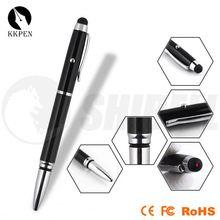 click plastic ball pen magnifier light and pen