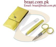 professional manicure cosmetic set of two pieces /7 pcs manicure set 2013 new style manicure set of barber scissor