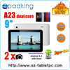 New tablet 9 inch Allwinner A23,Cheap china Android Tablet Dropshipping