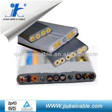 Flexible PVC Insulation Flat Cable (H05VVH6-F, H07VVH6-F) Elevator Travel Cable Sealant