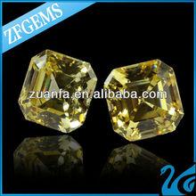 cz stones rough brilliant diamond shining yellow cubic zircon gems