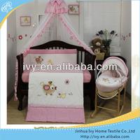 sheet set children bedding in pink pattern