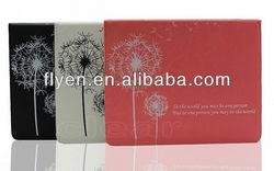 Dandelion designs minion case for ipad 2 3 4 flip pu leather case