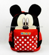 2014 Cartoon Children Backpack Bag New Design Mickey Mouse Kids School Bag
