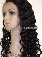 nice looking best quality water wave brazilian virgin hair silk top glueless lace wigs