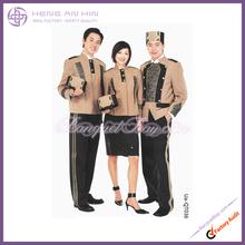 Printed doorman uniform in kahaki for Hotel bellboy bellman doorboy doorman Uniform