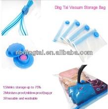 travel space bag vacuum plastic transparent bags clothes/airtight bag/vacuum sealed plastic bag organizer