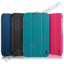 USAMS Three Folding Flip Stand Leather Case Cover For Samsung Galaxy Tab 3 8.0 Cover Case