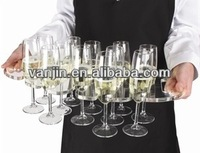 plexiglass champagne trays,lucite wine glass serving trays