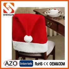 Fleece Christmas chair cover for Christmas home decoration