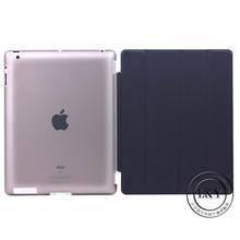 BLACK Front Smart Cover + Matte Transparent Back Hard Case For iPad 2/3/4