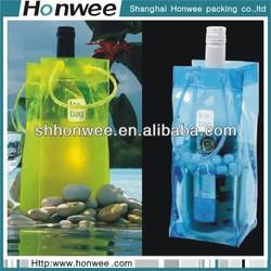 high quality fancy wholesale custom printed pvc 6 felt wine bag