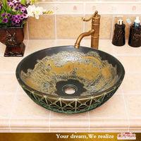 wash basin material unique design painting bathroom wash basin
