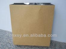 brown kraft paper bag with foil laminted film for food