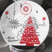 ceramic porcelain christmas tree plate