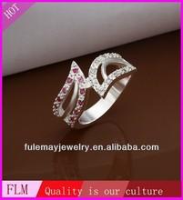 Fashion ruby rhinestone free style jaipur kundan silver rings in buy online,silver jewellery online FR317 for wholesale