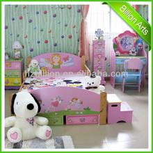 Top hot selling MDF &Solid wood princess children bedroom furniture sets
