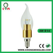 Factory direct sale e14 candle led lights 3w 160/180lm E12 E14 E17 B15 led candle lighting