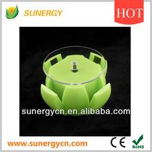 solar round apple shaped rotating display platform for digitals,electronics