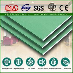 Waterproof Standard Size Paper Faced Gypsum Board Drywall Board