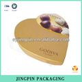 de oro en forma de corazón de chocolate caja de embalaje de fábrica