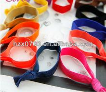 elastic ribbon for hair ties/Custom lycra hair tie with logo printed
