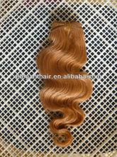 cheap wholesale Malaysian hair body wave orange hair weft