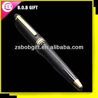 black metal ball pen