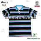mens polo collar striped shirt