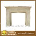 de estilo francés de mármol repisa de la chimenea