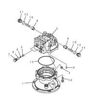 pc200-7 swing motor assy 706-7G-01070 excavator swing motor