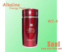 uses natural elements to increase pH levels of water alkaline water flask