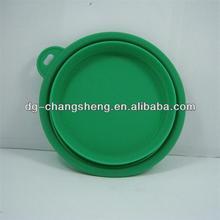 LFGB foldable dog water bowl/pet travel water bottle bowl/silicone dog bowl