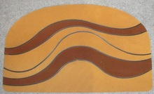 Semicircle rubber flocking door mat