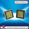 custom logo cufflinks Cusom design popular gold zinc alloy infinity cuff links