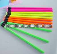 The new type fluorescent pencil with eraser topper