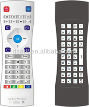 2014 new arrival wireless air mouse , universal remote control with wireless keyboard for android / smart tv