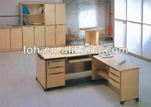L-shape cheap office table (FOHHY-965)