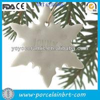 white porcelain christmas ornament for hanging