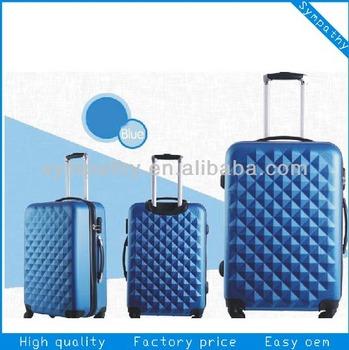 diamond fabric fake button trolley spinner wheels baigou factory popular design suitcase luggage