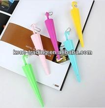 customized umbrella shape pen cheaper plastic ballpoint pen