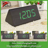 promotional decorative wooden desktop clock with green LED