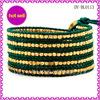 2014 Beautiful Design Wrap Bracelet In Grass Green Pelle