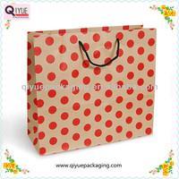dot printed paper bag