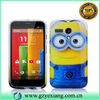 Cartoon hybrid minions mobile phone cases ,Despicable Me case for Moto g