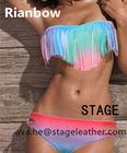 Sexy gradient tassel bikini