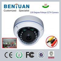 Analog Sony CCD 700TVL Vandalproof Ball 130 Degree Infrared Fisheye Camera